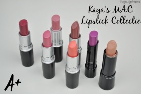 Make-up: Kaya's MAC lipstick collectie