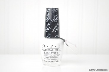 Nagels: Glitter off peelable base coat van OPI