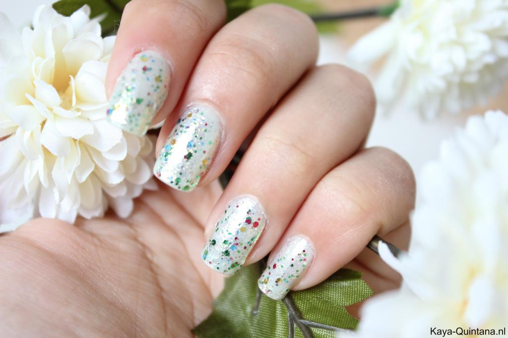 groene gouden glitter nagellak