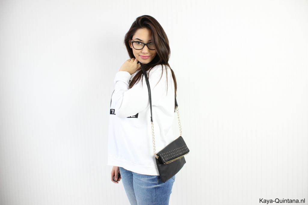 outfit met witte trui