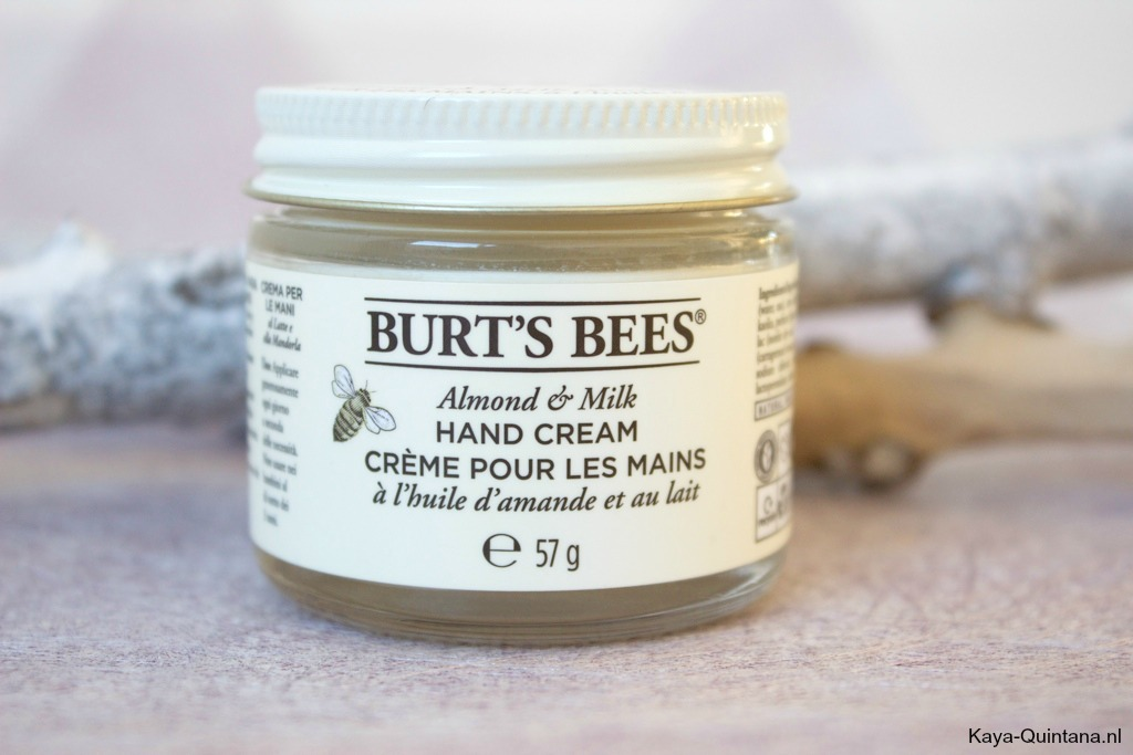 burts bees almond and milk hand cream