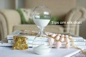 Lifestyle: Tips om elk doel te bereiken