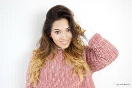 roze chenille sweater