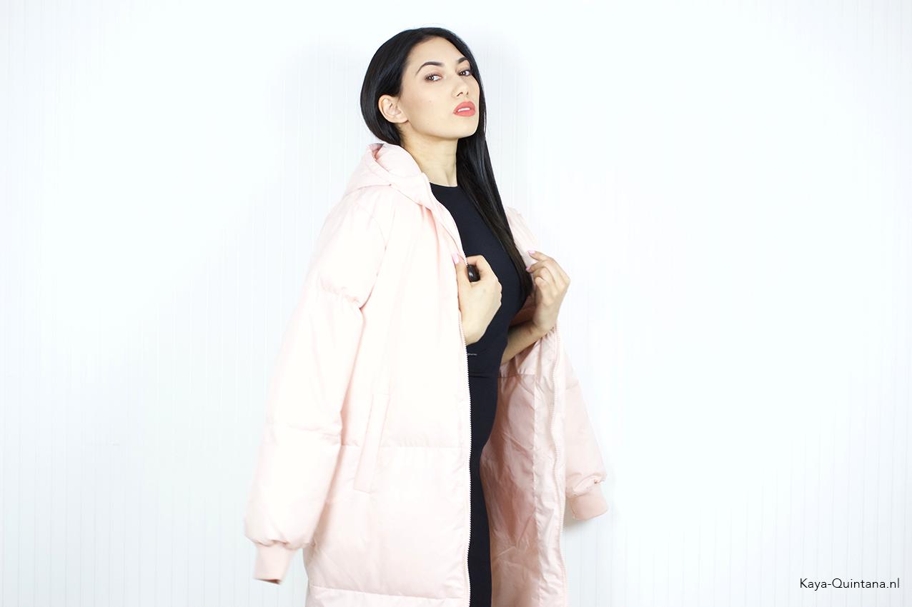 pink fila coat