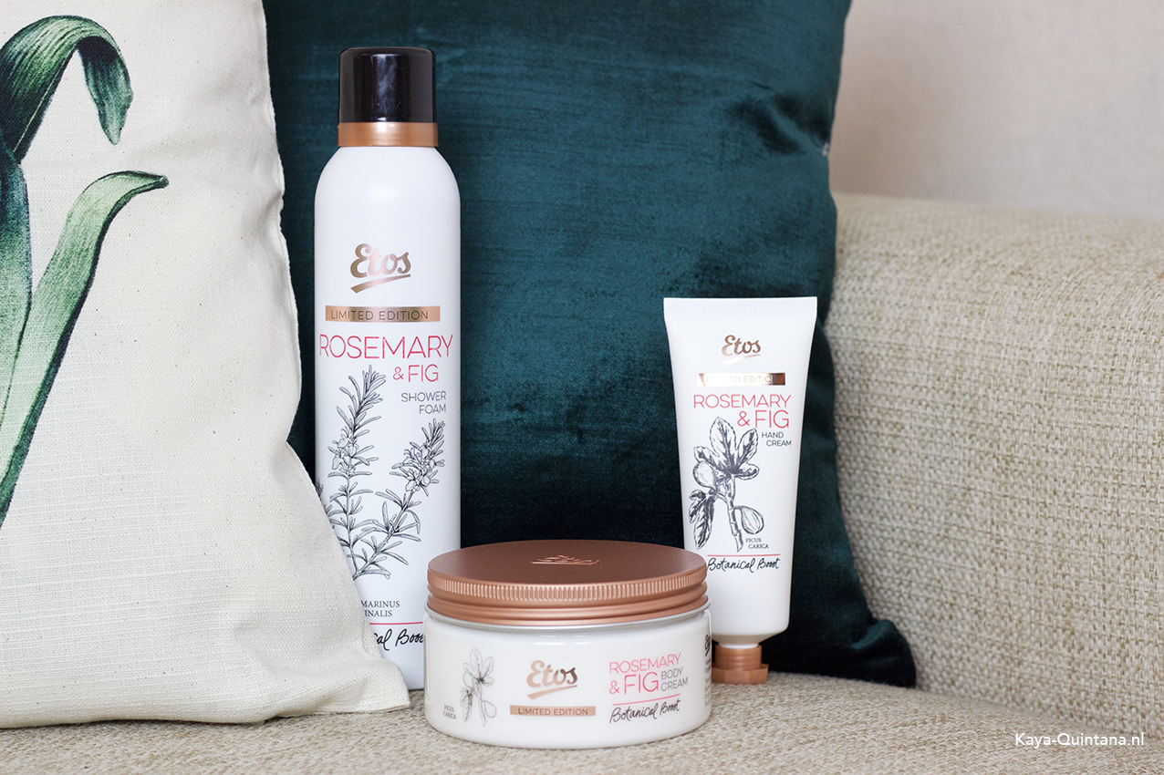 Etos Botanical boost rosemary and fig limited edition collection