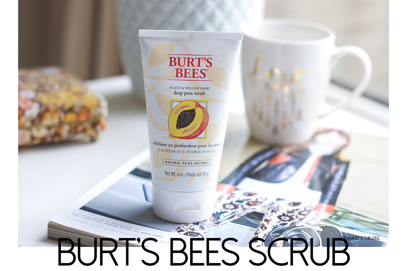Burt's bees peach and willow bark deep pore scrub review