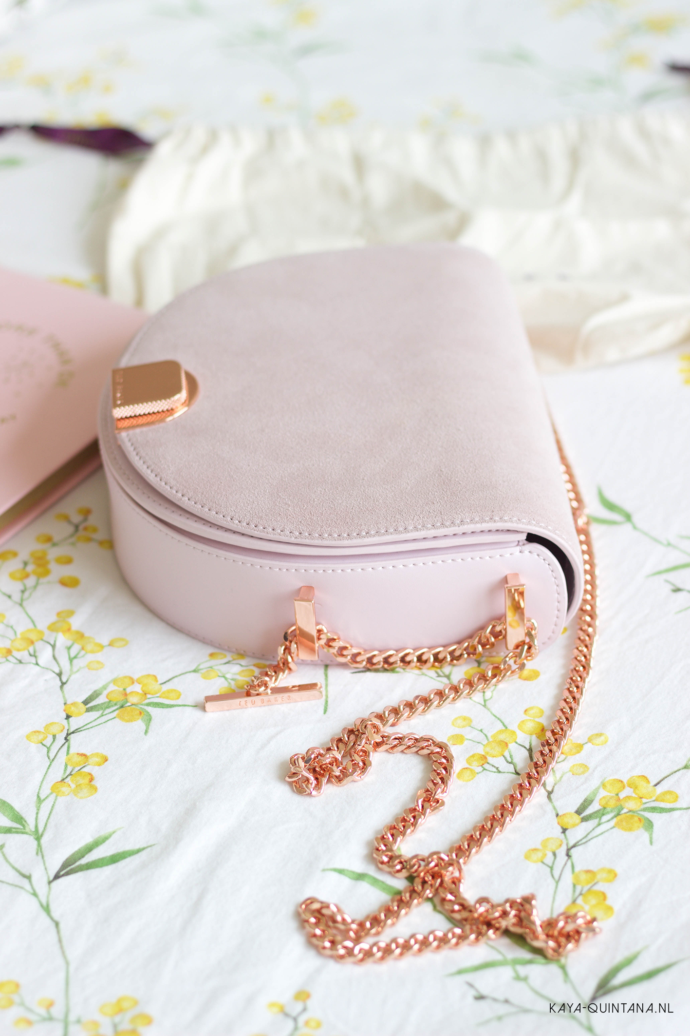 ted baker moon bag dusty pink