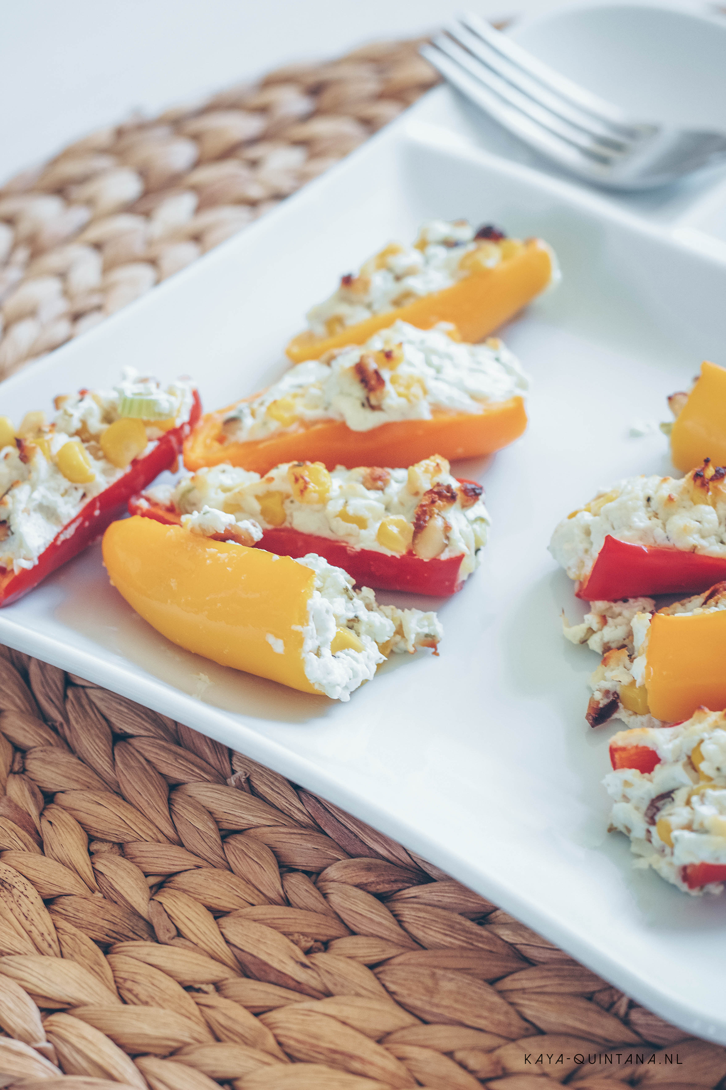 mini bell peppers with goat cheese