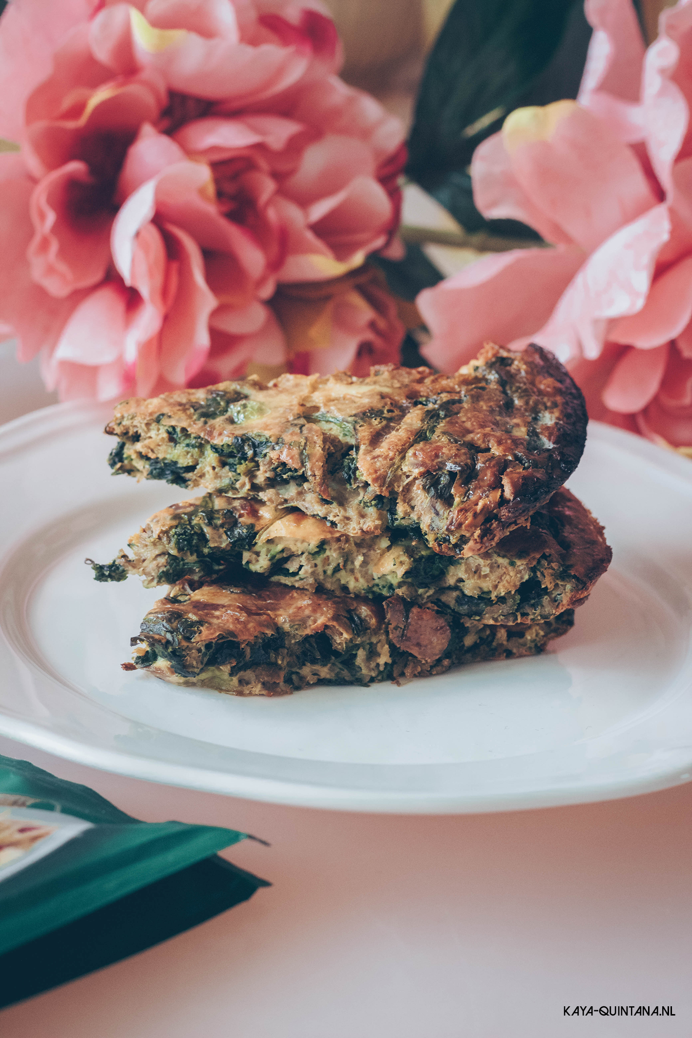 frittata with tuna and spinach