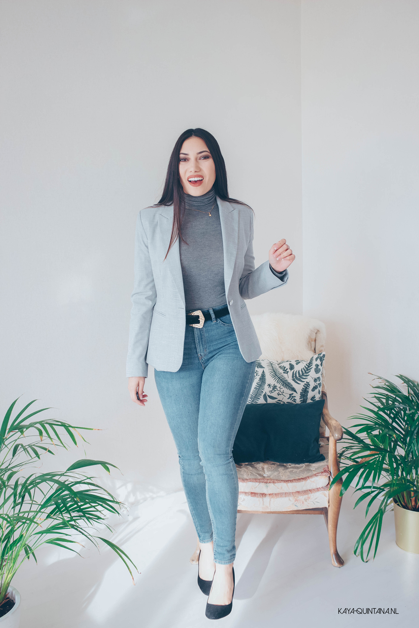 Grey on grey outfit