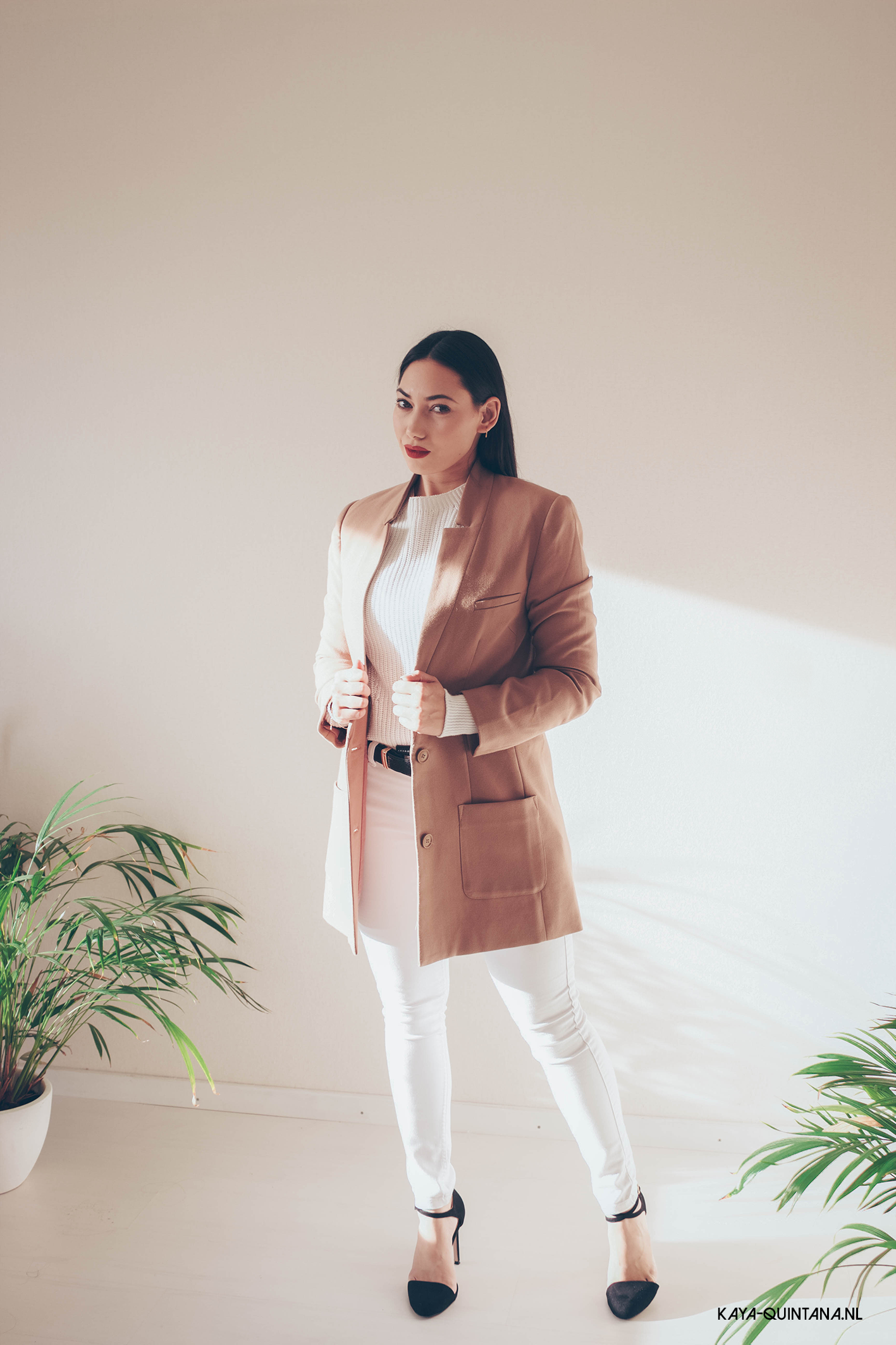 camel coat outfit