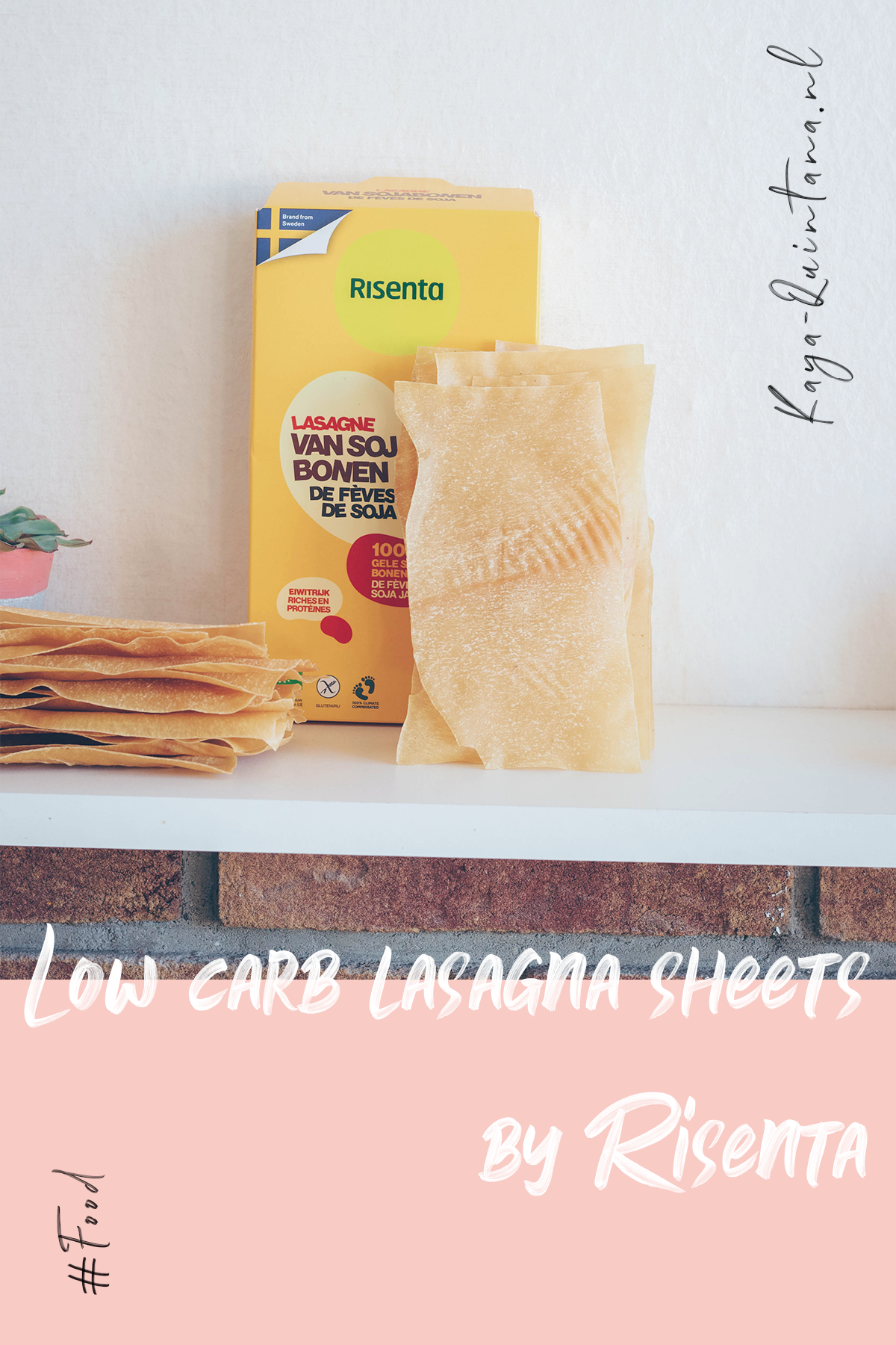 Low carb lasagna sheets made from yellow soybeans by Risenta