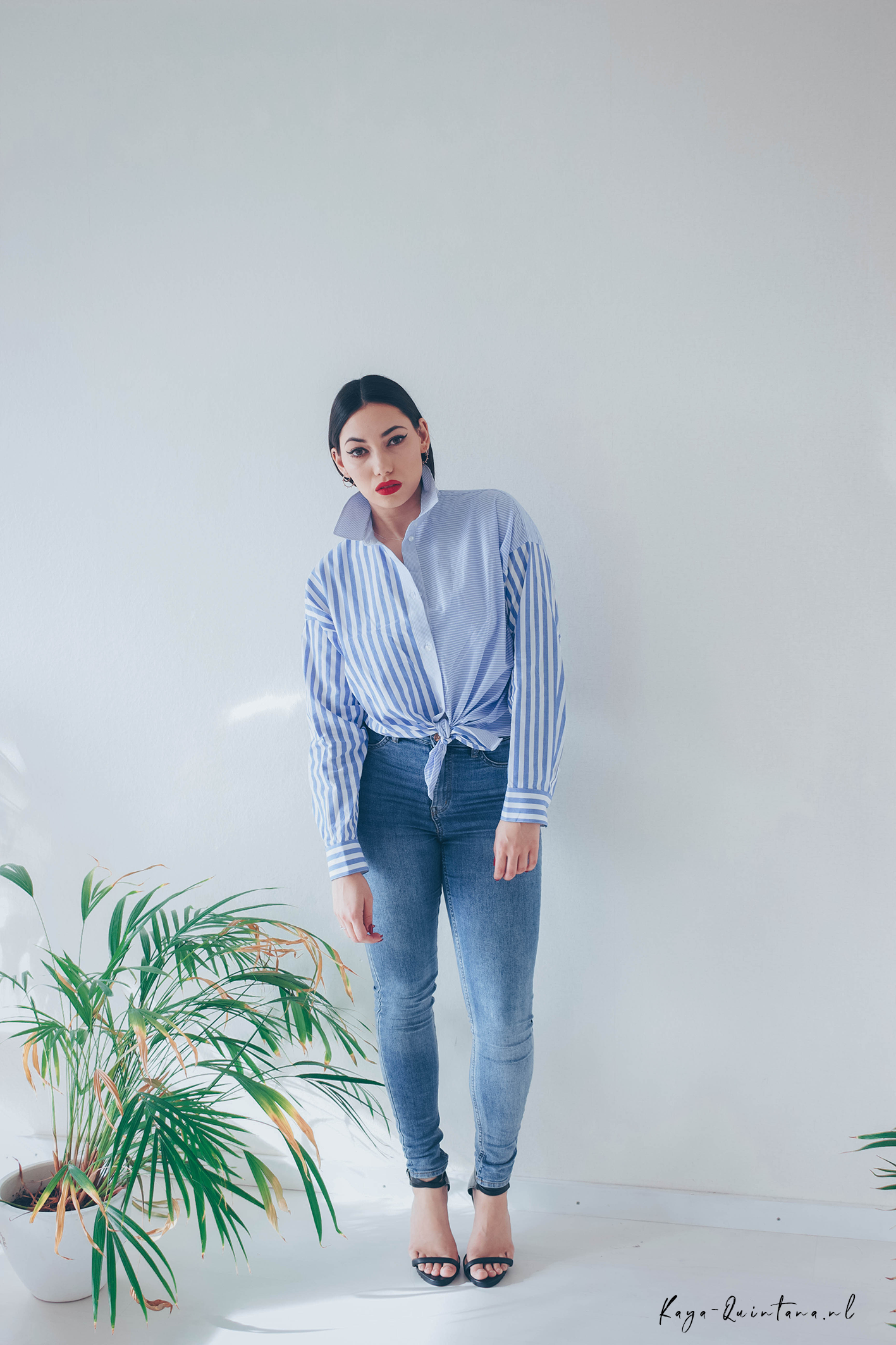 blue blouse outfit