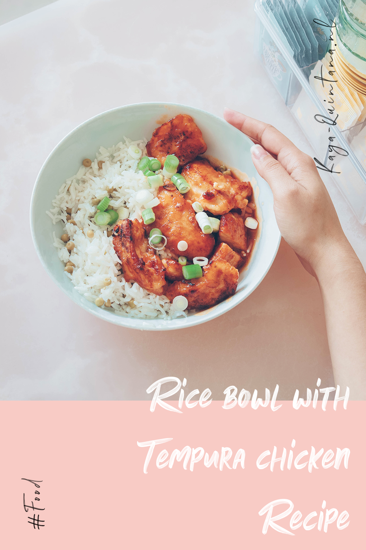 Rice bowl with chicken tempura recipe