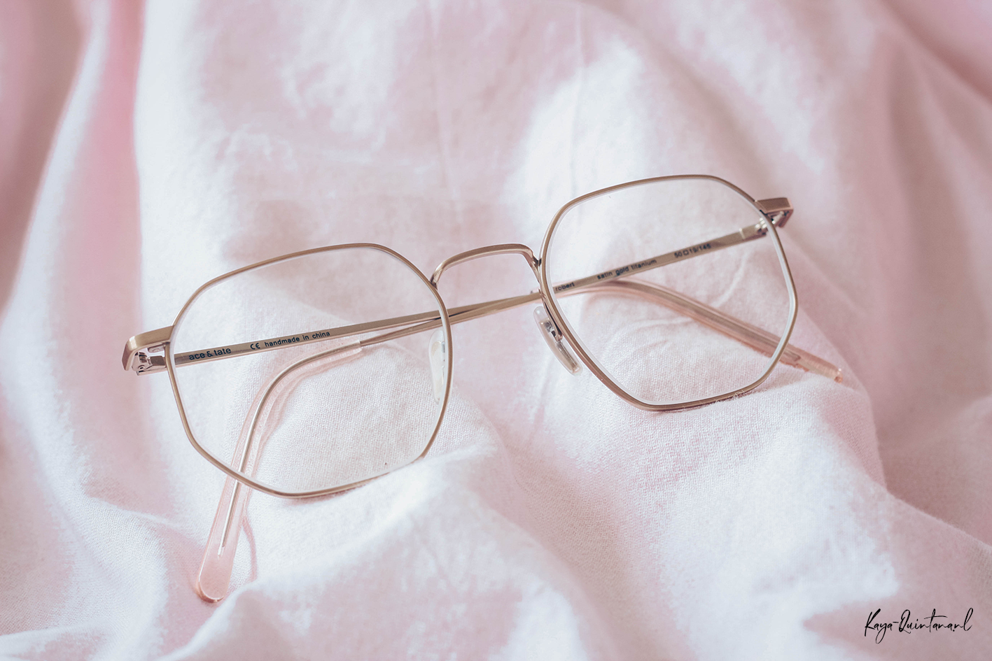 hexagon shaped glasses