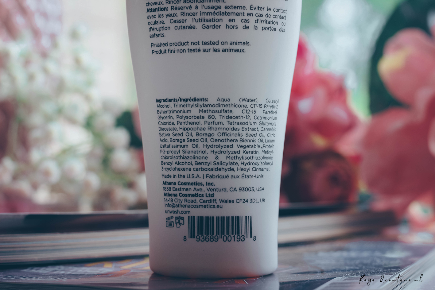 Unwash bio-cleansing conditioner ingredients
