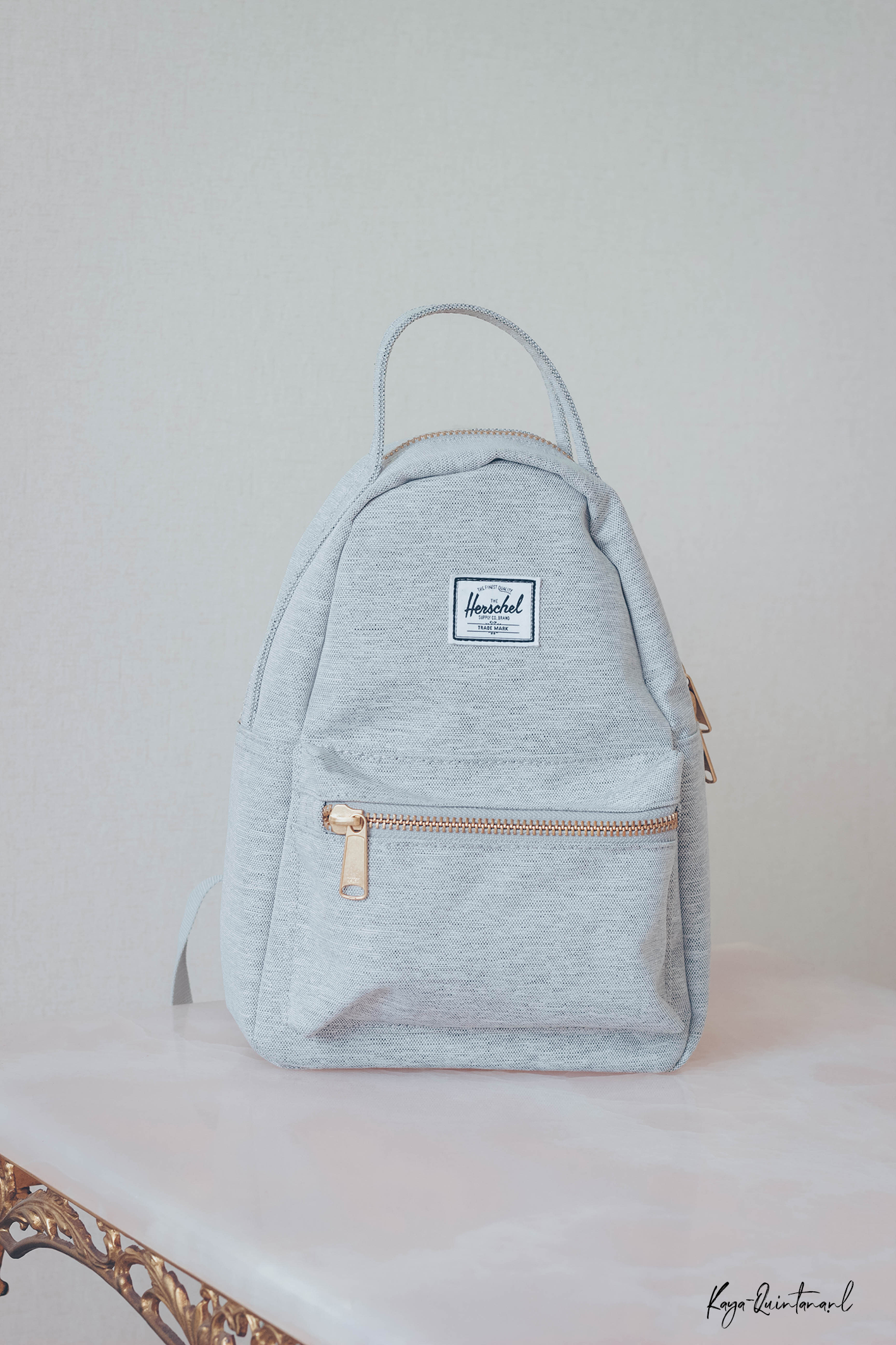 grey herschel backpack