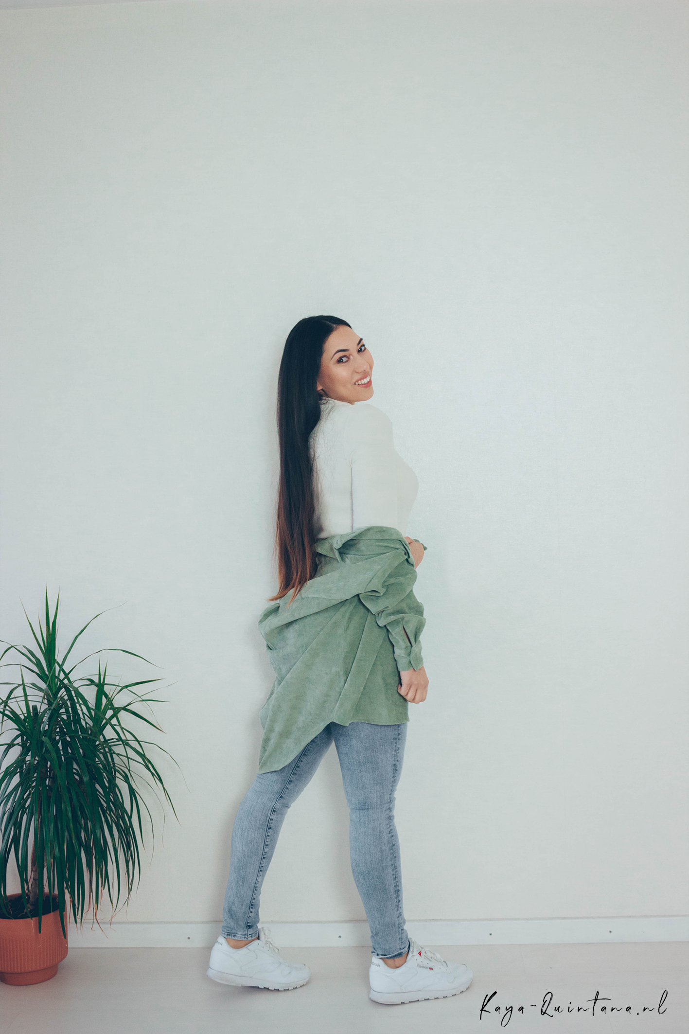 green overshirt outfit