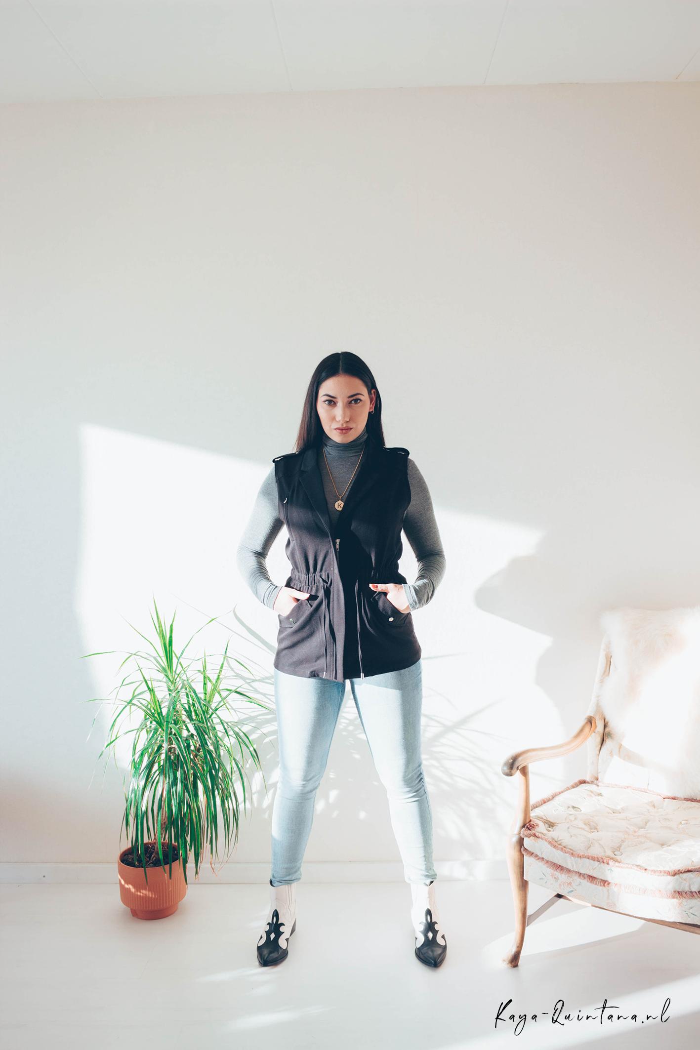 sleeveless coat outfit