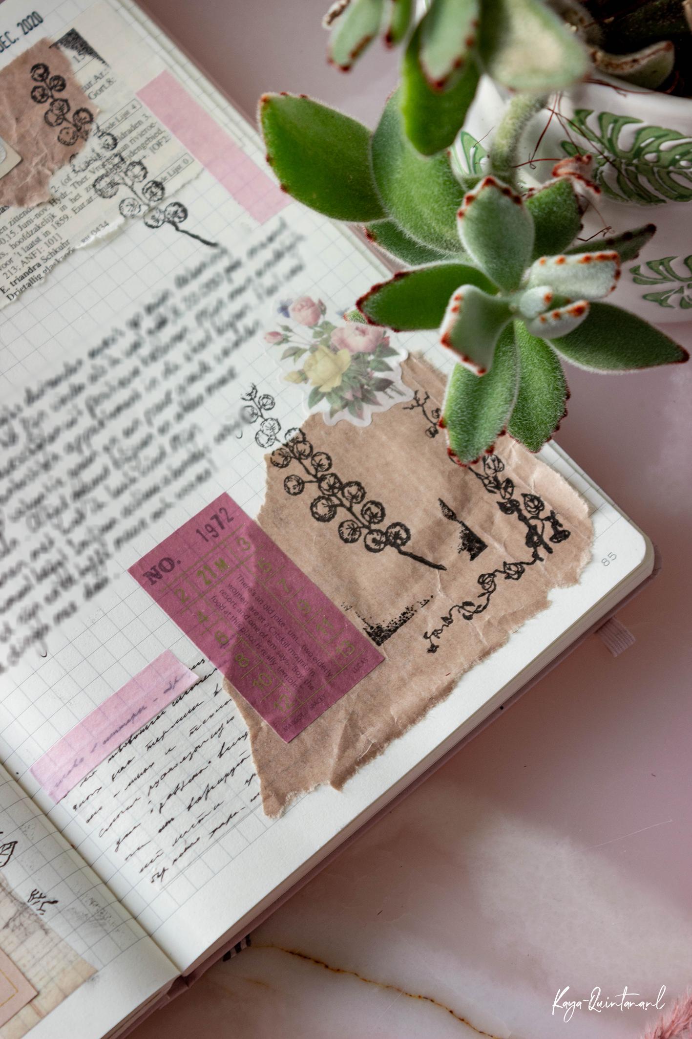 vintage bullet journal spread